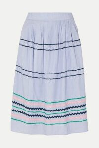 J.Crew - Summerstorm Striped Cotton-poplin Skirt - Blue