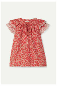 Ulla Johnson - Elm Broderie Anglaise-trimmed Floral-print Cotton-poplin Blouse - Red