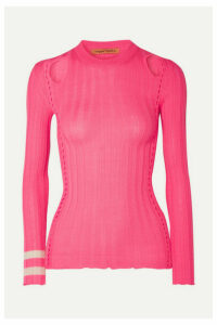 Maggie Marilyn - Hole Lot Of Loving Cutout Ribbed Wool-blend Sweater - Bright pink