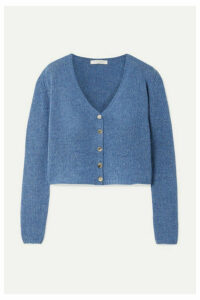 The Row - Abigael Cropped Cashmere Cardigan - Blue