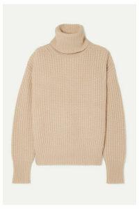 Joseph - Pearl Ribbed Wool Turtleneck Sweater - Cream