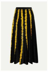 Proenza Schouler - Tie-dyed Stretch-velvet Midi Skirt - Black