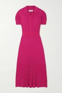 Jenny Packham - Ida Gathered Embellished Georgette Gown - Claret