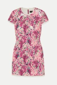 Rachel Zoe - Lili Chiffon-trimmed Sequined Printed Crepe Mini Dress - Pink