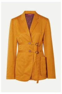 Sies Marjan - Buckled Wool-twill Blazer - Saffron