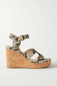 Christopher Kane - Oversized Beaded Satin Maxi Dress - Black