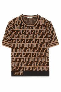 Fendi - Intarsia-knit Sweater - Brown