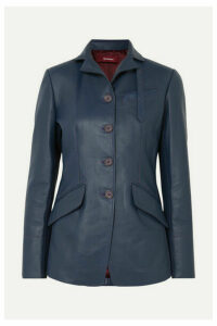 Sies Marjan - Bryce Leather Blazer - Navy