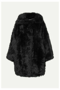 Balenciaga - Swing Oversized Faux Fur Coat - Black