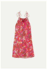 Stella McCartney - + Net Sustain Tie-detailed Printed Hammered-satin Halterneck Mini Dress - IT50
