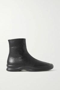 Tibi - Camille Paneled Wrap-effect Tencel And Satin-twill Dress - Orange