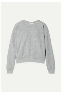 RE/DONE - 50s French Cotton-blend Terry Sweatshirt - Light gray