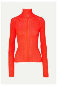 Acne Studios - Komina Neon Ribbed-knit Turtleneck Sweater - Red