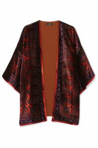 Etro - Paisley-print Velvet Jacket - Burgundy