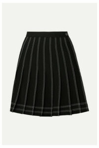 Off-White - Pleated Twill Mini Skirt - Black