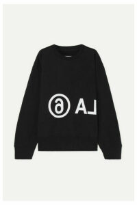 MM6 Maison Margiela - Oversized Printed Cotton-jersey Sweatshirt - Black