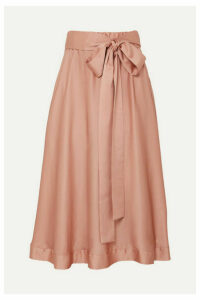 I.D. Sarrieri - Silk-satin Midi Skirt - Antique rose