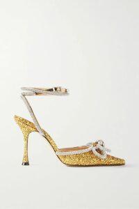 Anna Mason - Vita Metallic Embroidered Cotton-blend Jacquard Midi Dress - Pink