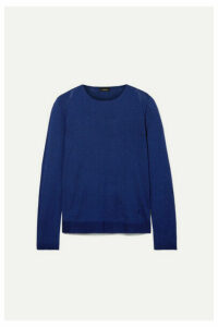Akris - Cashmere And Mulberry Silk-blend Sweater - Navy