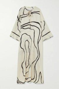 Eres - Paule Cotton-jersey Maxi Dress - Army green