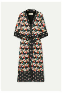 Temperley London - Dragonfly Printed Satin Kimono - Black