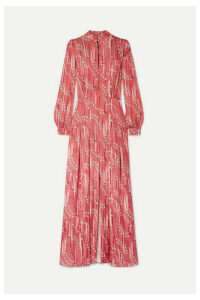 Paul & Joe - Floral-print Satin Maxi Dress - Pink