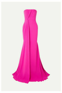 Alex Perry - Garnet Strapless Draped Crepe And Satin Gown - Pink