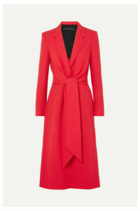 Roland Mouret - Hollywell Belted Wool-crepe Coat - Red
