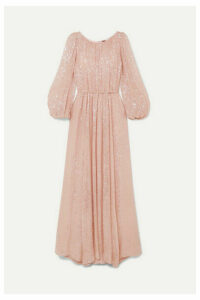 Adam Lippes - Sequined Chiffon Gown - Pastel pink