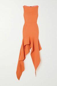 Marni - Asymmetric Leather Midi Skirt - Navy