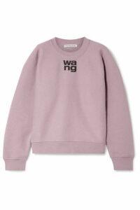 alexanderwang.t - Oversized Printed Cotton-blend Fleece Sweatshirt - Lilac