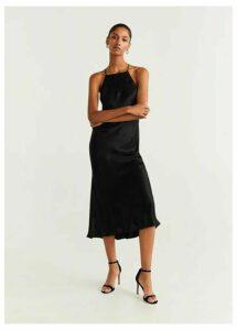 Satin halter dress