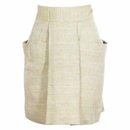 Tweed mid-length skirt
