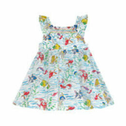 Mini Ocean Fish Baby Darcy Dress with Bodysuit