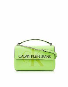 Calvin Klein Collection Designer Handbags, Sculpted Monogram Crossbody Bag w/ Signature Flap