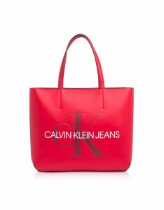 Calvin Klein Collection Designer Handbags, Sculpted Monogram Tote Bag w/ Signature