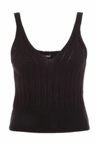 Quiz Black Knitted Tank Top