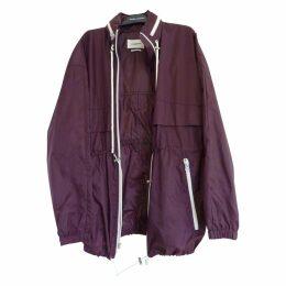 Burgundy Synthetic Coat