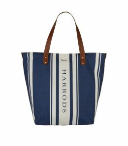 Striped Logo Tote Bag