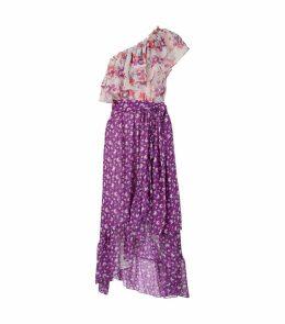 Carina Asymmetric Midi Dress