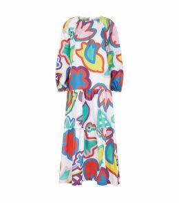Flower Print Tiered Dress