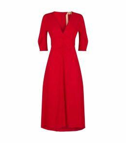 Ruched Midi Dress
