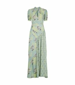 Floral and Lace Print Maxi Dress