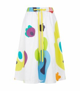 Monster Print Midi Skirt