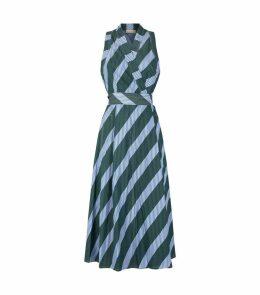 Chevron Stripe Wrap Dress