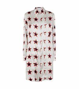 Star Print Silk Dress