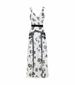 Floral Sequin Midi Dress