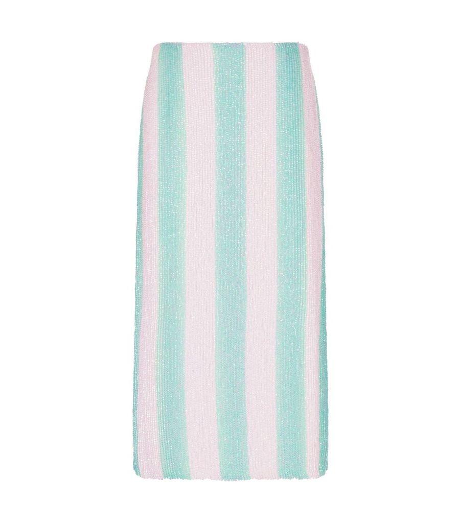 Veronica Sequin Stripe Skirt