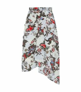 Roly Draped Silk Skirt