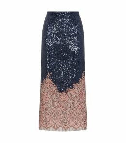 Sequins and Lace Skirt